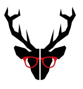 Le cerf à lunettes rouges